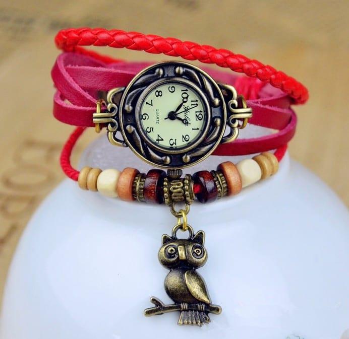 Часы-браслет с совой
