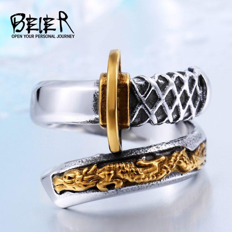 Мужское кольцо в виде меча на Aliexpress